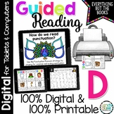 Guided Reading Level D Activities & Lessons (Print & for Digital Google Use)