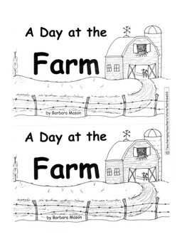 Guided Reading Level D Book: A Day at the Farm w C. Core Lesson Plan, Word Cards