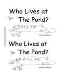 Guided Reading Level D Book: Who Lives at the Pond? w C.Core Plan, Word Cards