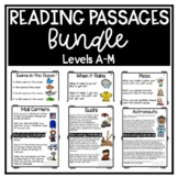 Guided Reading Level D, E, F, G, H / DRA 6, 8, 10, 12, 14 Comprehension Passages