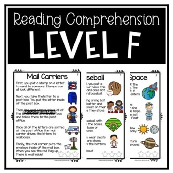 Guided Reading D, E, F, G, H, I /DRA 6, 8, 10, 12, 14, 16 Comprehension Passages