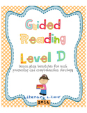 Guided Reading Level D Lesson Plan Templates and Resources