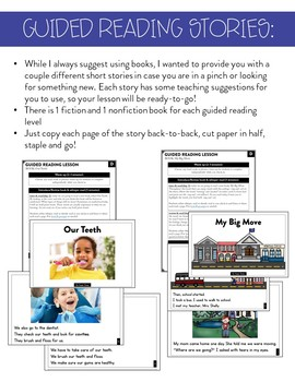 Guided Reading (Level D) Lessons and Activities