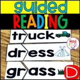 Guided Reading Group Activities Level D with Lesson Plan Template for 1st grade