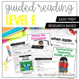 Guided Reading Level E Lesson Plans and Activities