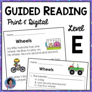 First Grade Guided Reading Passages and Questions: Guided Reading Level E