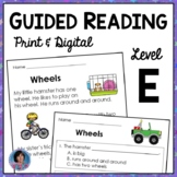 First Grade Guided Reading Passages and Questions: Guided Reading Level E {RtI}