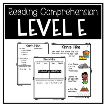 Guided Reading Level E Passages or DRA 8 with Comprehension Response Sheets