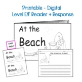 Guided Reading Level E/F Printable Book and Lesson Plan:  At the Beach