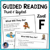 Guided Reading Level F Reading Passages with Text Evidence Questions