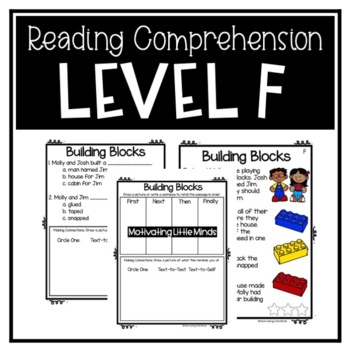 Guided Reading Level F Passages or DRA 10 with Comprehension Response Sheets