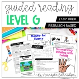 Guided Reading Level G Lesson Plans and Activities