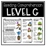 Guided Reading Level G Passages or DRA 12 with Comprehensi