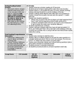 Guided Reading Level H Lesson Plan