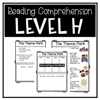 Guided Reading Level H Passages or DRA 14 with Comprehension Response Sheets