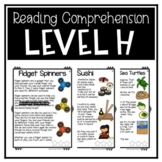 Guided Reading Level H Passages or DRA 14 with Comprehensi