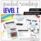 Guided Reading Level I Lesson Plans and Activities