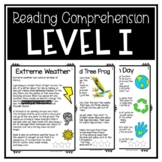 Guided Reading Level I Passages or DRA 16 with Comprehensi