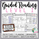 Guided Reading Lesson Plans Level I
