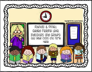 First Grade Guided Reading Level Indicators and Groupings