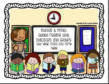 Kindergarten Guided Reading Level Indicators and Groupings Poster Set