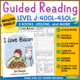 Guided Reading Level J Growing Bundle: 5 Books and Lessons - Grab and Go!