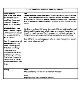 Guided Reading - Level J Non Fiction - Answer Inference Questions