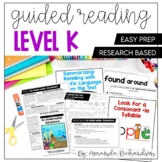 Guided Reading Level K Lesson Plans and Activities