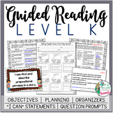 Guided Reading Lesson Plans Level K