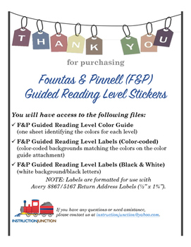Guided Reading Level Labels