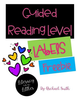 Guided Reading Level Labels {Freebie}