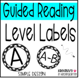 Guided Reading Level Labels-Simple Version