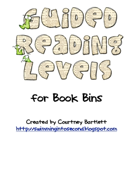 Guided Reading Level Labels for Book Bins