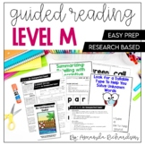 Guided Reading Level M Lesson Plans and Activities