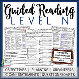 Guided Reading Lesson Plans Level N