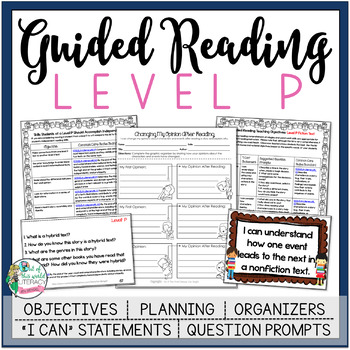Guided Reading Lesson Plans Level P