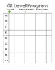 Guided Reading Level Progress Chart