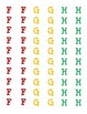 Guided Reading Level Stickers for Books/Letter and Number