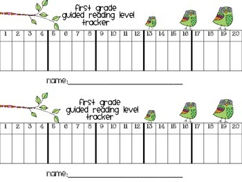 Guided Reading Level Student Tracker