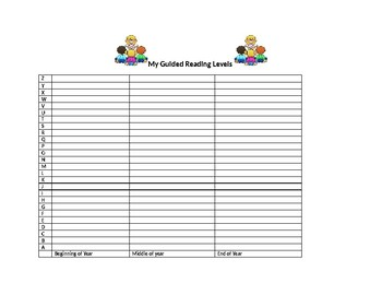 Guided Reading Level Tracker