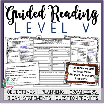 Guided Reading Lesson Plans Level V