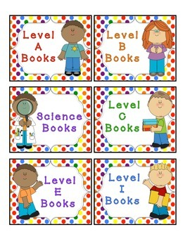 Guided Reading Leveled Book Labels
