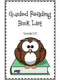 Guided Reading Leveled Book List (C-P)
