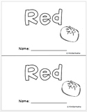 Color Book: Beginning Sight Word Guided Reading Leveled Book 1: Red