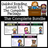 Guided Reading Leveled Books & Resources Levels E-I: The Complete Bundle