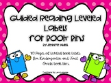 Guided Reading Leveled Labels For Book Bins