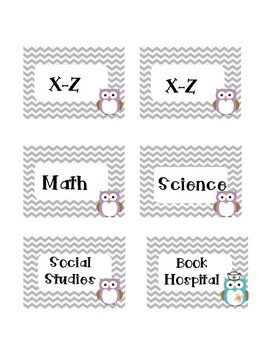 Guided Reading Leveled Library and Subject Labels!