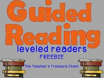 Guided Reading Leveled Readers FREEBIE