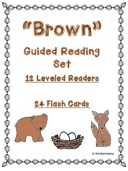 Color Book: Guided Reading Differentiated Sight Word Leveled Color Set: Brown