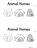 Animal Homes Level B Guided Reading book with SCI Integration